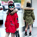 2017 New Fashion Girls Winter Coat,Casual Children Thicken Coats,Kids Jacket Outwears Warm Winter Jackets,Teenage Child Clothes