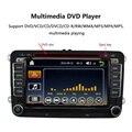 """7 """"1080 P HD Reproductor de DVD de Navegación GPS Bluetooth 2 Din en El Tablero radio car pc unidad principal estéreo para vw volkswagen + tarjeta de mapa gratuito + free"""
