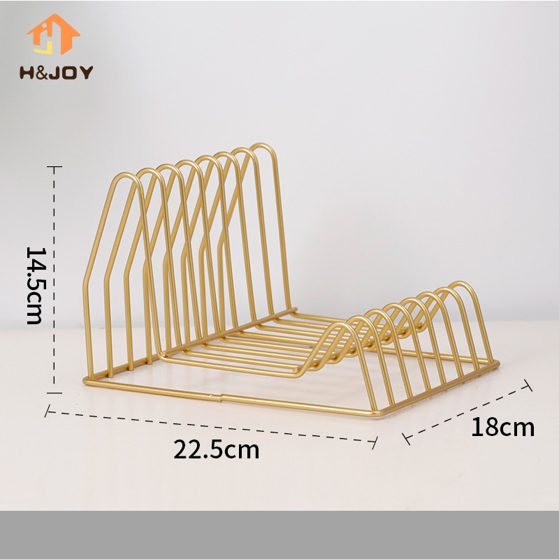 Metal Book Stand Irregular Shape Classic Home Magazine Newspaper Organizer Office Stationery Organizer Newspaper Storage Rack title=