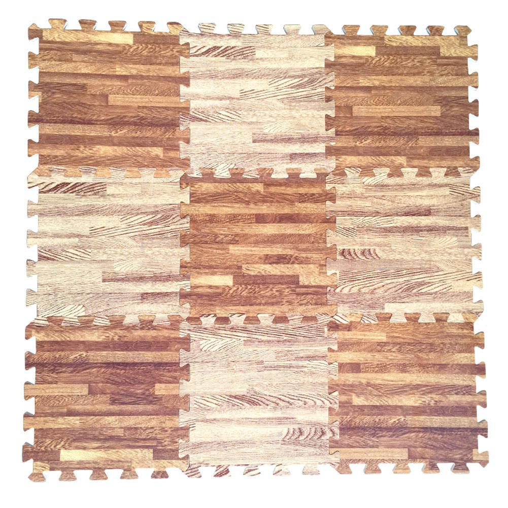 LeadingStar 30x30x1cm Baby Split Joint Puzzle Mat Wood Grain Play Creeping Climbing Game Pad - 6pcs/set