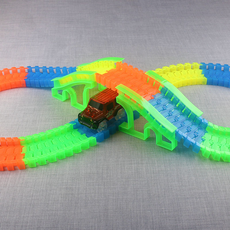 Flexible-Track-DIY-Toy-Slot-Car-Kit-with-LED-Light-Car-glows-in-the-dark-Racing-Track-Toys-Slot-Car-Gift-for-children-kids-1