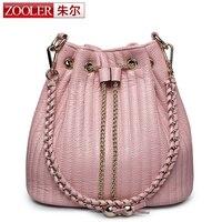 ZOOLER 100 Genuine Leather Women Bags Handbags Famous Brand Fashion Real Cowhide Crossbody Tote Bag Bolsas