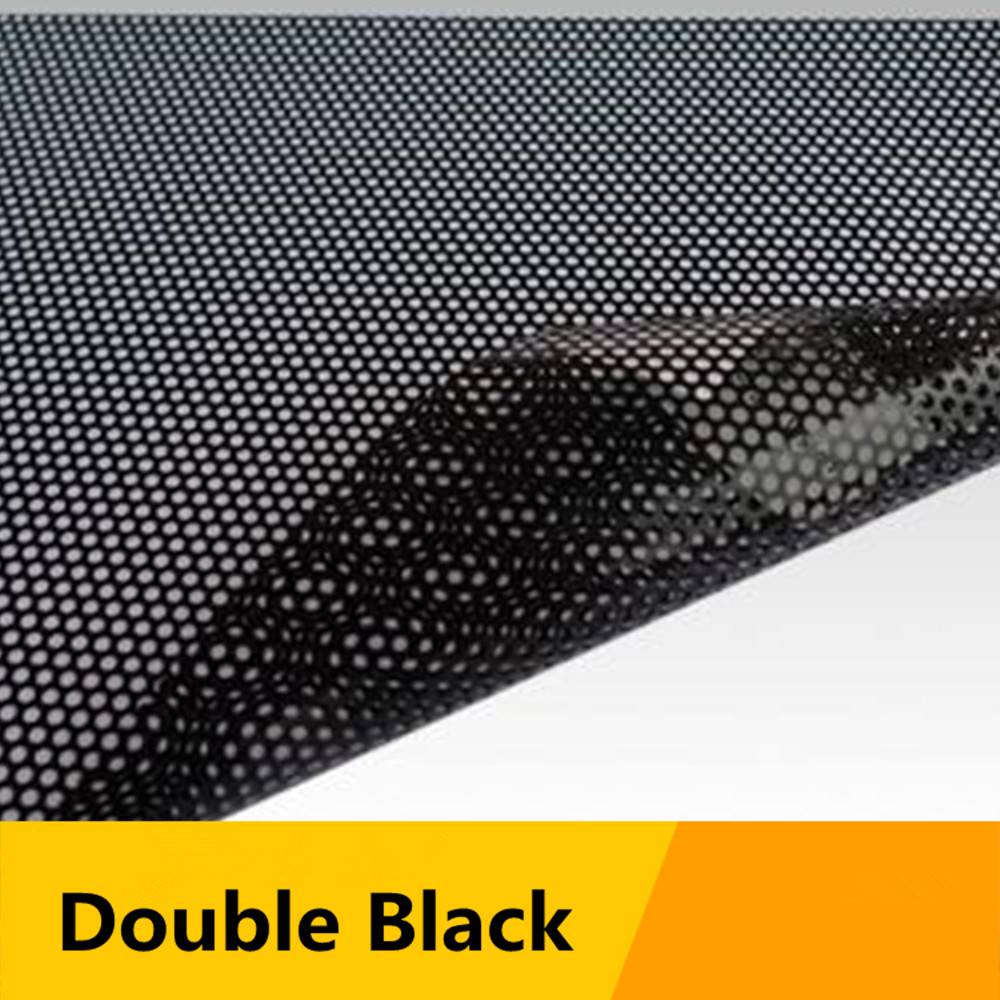 "Image 2 - SUNICE Black Perforated Vinyl Film One Way Vision Privacy Film Wrap Car/Home Window Film 48""x11.8""(122cm x 30cm) Sticker Decals-in Car Stickers from Automobiles & Motorcycles"