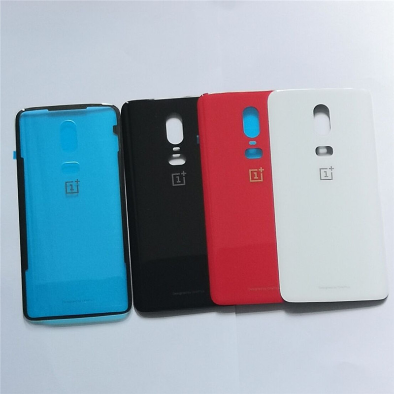 Housing Glass-Replacement-Parts Glue Oneplus Real-Back-Cover 6-Battery Original Door