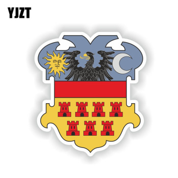 YJZT 11.7CM*13.2CM Crest Romania Carpathian Helmet Car Sticker Transylvania Decal 6-1515 image