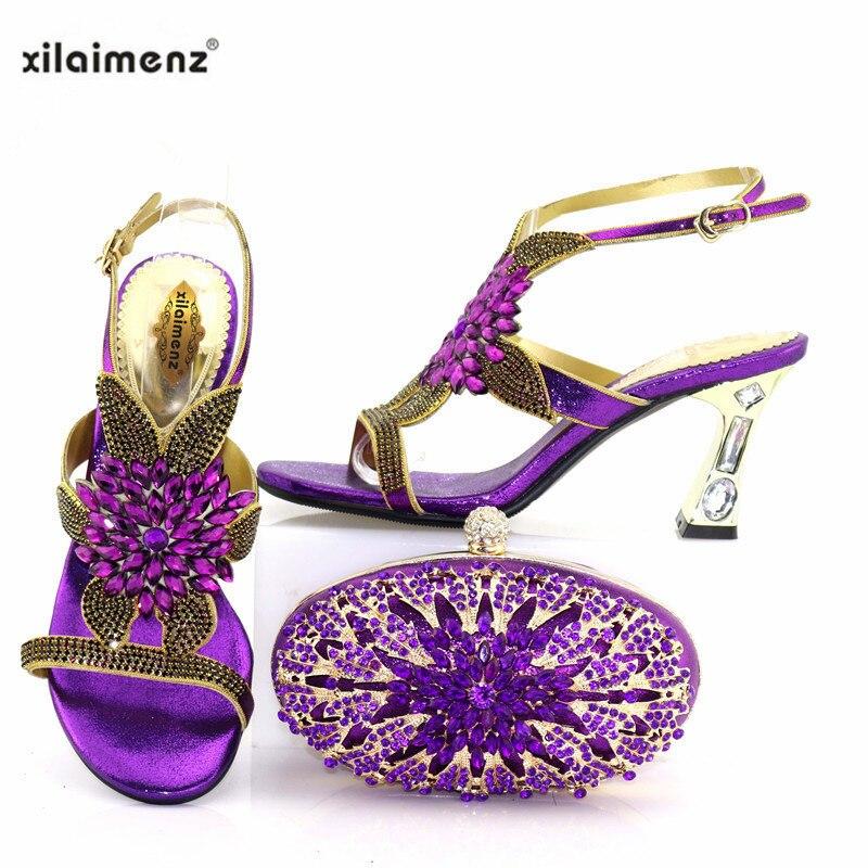 Pour silver Assorties purple En Blue Et Royal Italiennes Nouveautés Nigérien De Chaussures Parti gold Ensemble Sacs Talons HU8ZSn
