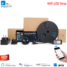 EWeLink Home Automation สมาร์ท LED Light Strip Dimmable กันน้ำ WiFi RGB แถบไฟทำงานร่วมกับ Alexa Google Home