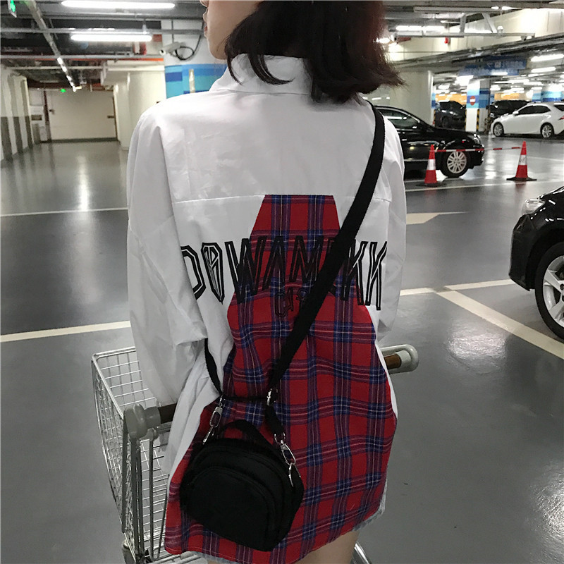 Women's Clothing 2018 Summer New Women Temperament Loose Plaid Letter Long Sleeve Shirt To Be Renowned Both At Home And Abroad For Exquisite Workmanship Skillful Knitting And Elegant Design