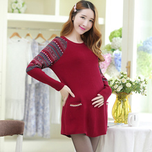Pullover Maternity Sweater Clothes Pregnancy Clothes Women Pregnant Cotton Full Pullovers O-neck Sweater Maternity Clothing B183