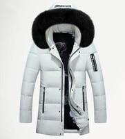 Men's Duck Down Jacket Plus Size Fashion White Duck Down Jackets Xxl Xxxl Zipper Coat Warm Clothing Overcoat