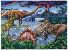 Dinosaur full diamond embroidery bead patterns square 5d painting animal Mosaic rhinestones needlework