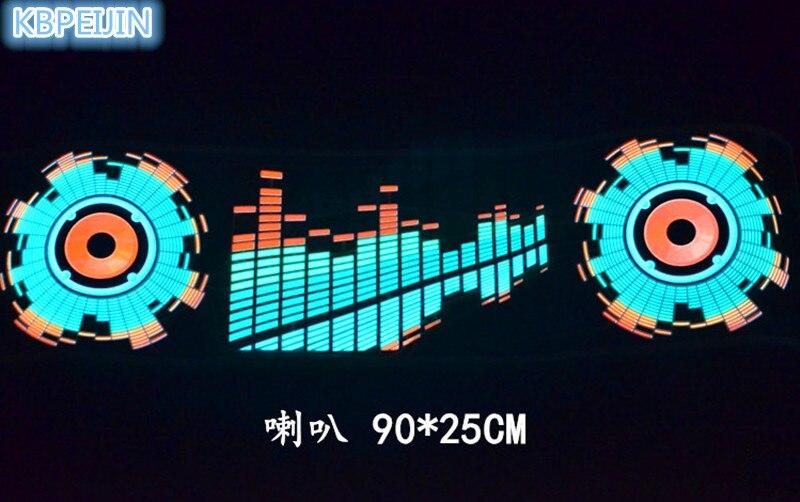 car styling neon light car LED music Rhythm sticker for Audi a4 a3 q5 q7 a5 b6 b8 a6 c5 b7 c6 a8 tt accessories 90*25cm