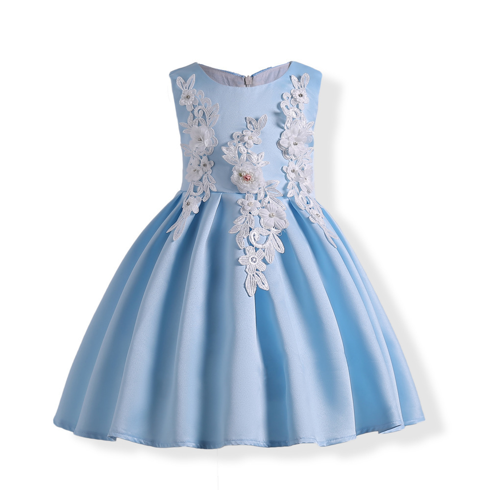 Girls dress party clothes for girls wedding a line dresses girl ...