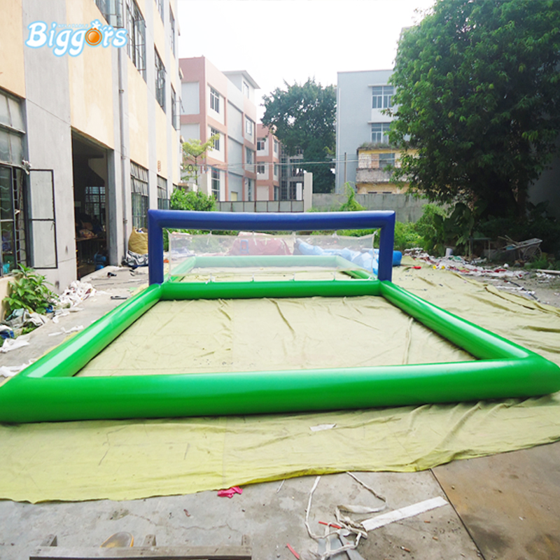 Durable Inflatable Sports Game Inflatable Water Beach Volleyball Court free shipping 12 6 inflatable water sports games inflatable volleyball field inflatable beach volleyball field free a pump