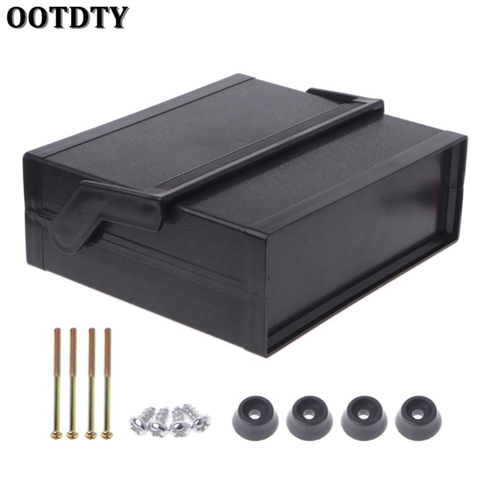 OOTDTY Waterproof Plastic Electronic Enclosure Project Box Black 200x175x70mmOOTDTY Waterproof Plastic Electronic Enclosure Project Box Black 200x175x70mm