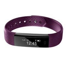 Smartband ID115 Smart Bracelet Fitness Tracker Step Counter Activity Monitor Band Vibration Wristband pk FitBits Mi Band 2 ID107