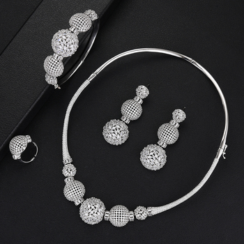 Luxury Ball Chain Nigerian Statement Jewelry set 2