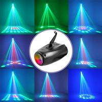 LED Letter Pattern Stage Light Auto Voice control Moonflower Projector Lighting Lamp for DJ Party Wedding Events Club