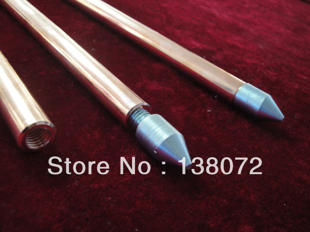 kathykathyCopper clad steel grounding rod thread / stainless
