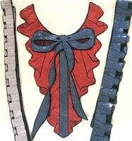 Модные расшитые блестками кружева аппликация-колье на шею патчи для одежды тканевая нашивка шитье parches bordados вышитые патчи