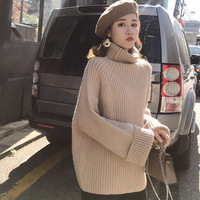 Loose Internet celebrity turtleneck women thicker pullover lazy wind