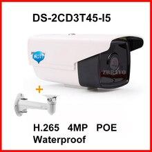 Высокое качество Многоязычная DS-2CD3T45-I5 Full HD 4MP Поддержка H.265 HEVC Для Дома Seurity 50 М Ик POE IP Камеры ВИДЕОНАБЛЮДЕНИЯ Пуля