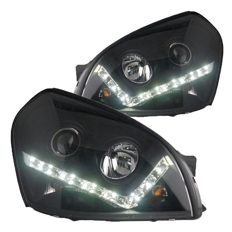 for Hyundai Tucson Projector Headlights fit 2006-2012 year 4pcs set smoke sun rain visor vent window deflector shield guard shade for hyundai tucson 2016
