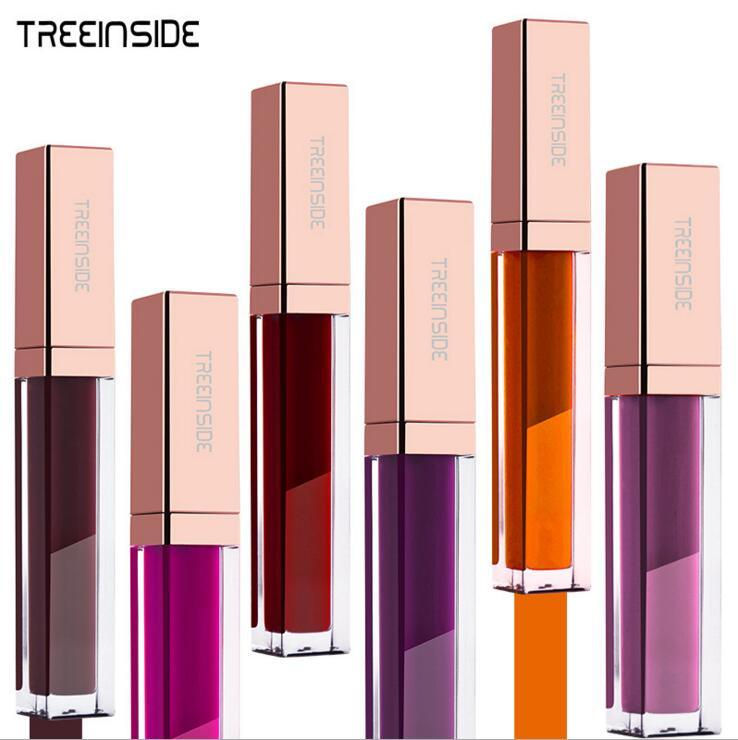 2018 NEW Brand Lip Gloss Matte Color Cosmetics Waterproof Long Lasting Pigment Brown Purple Matte Liquid Lipstick Lot for women