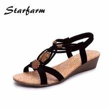 Sommer Schuhe Frauen Sandalen Peep Toe Plateauschuhe Strand Flip-Flops Süßen Niedrigen Keile PU Damen Strand Schuhe SFSA112