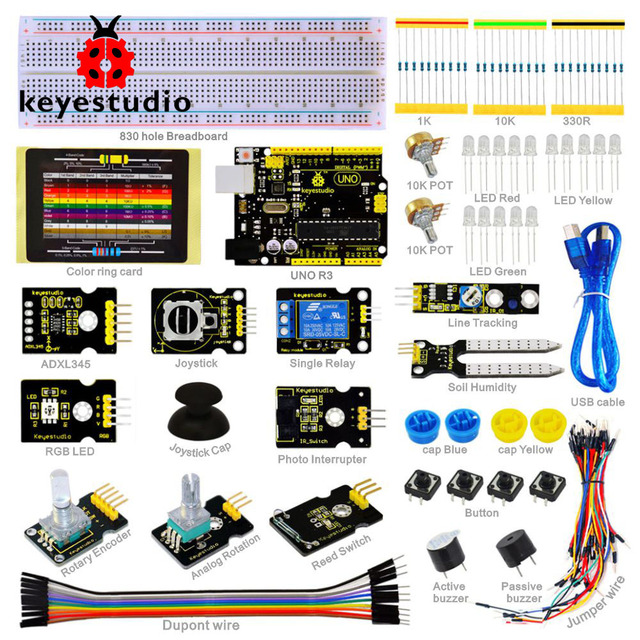 2016 NEW! Keyestudio Sensor Kit - K4 for arduino Starters with UNO R3 board