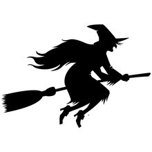 CS-800#20*13.8cm Halloween a witch funny car sticker vinyl decal silver/black for auto stickers styling decoration
