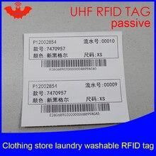UHF RFID бирка для стирки моющаяся печатная одежда чип 915 МГц 868 МГц 860-960 м Impinj MR6 EPC Gen2 6C смарт-карты пассивные RFID метки