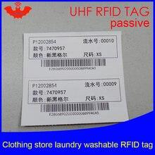 Uhf rfid стираемая бирка для белья чип печати одежды 915 МГц