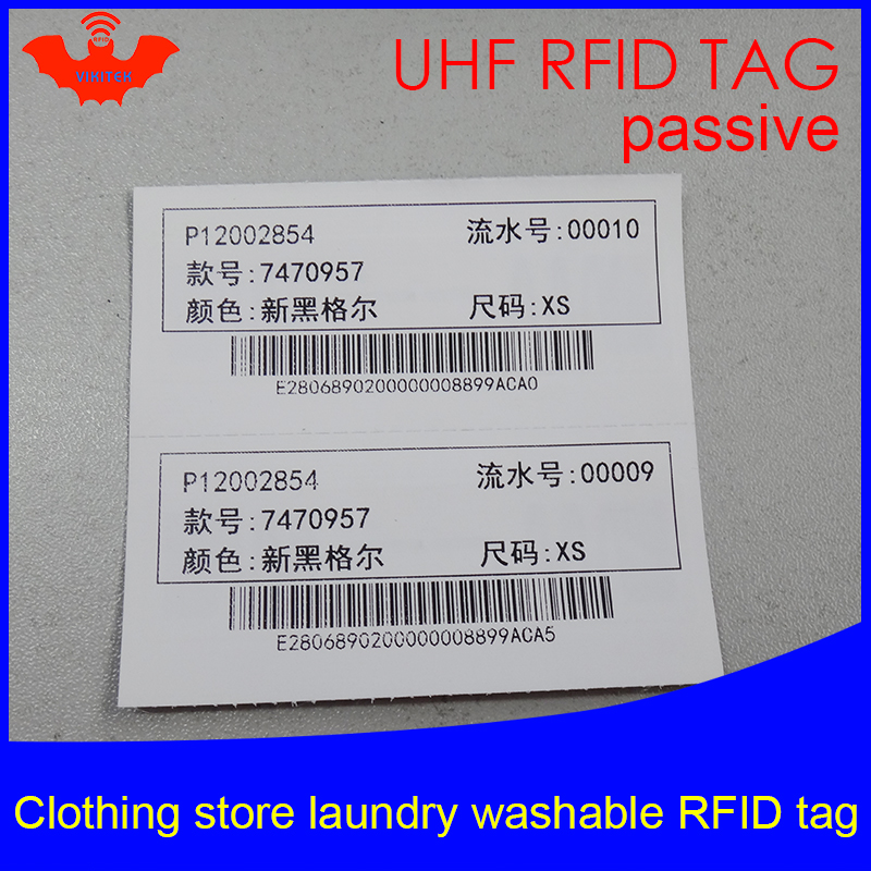 UHF RFID Laundry Tag Washable Printable Clothing Chip 915mhz 868mhz 860-960M NXP Ucode7 EPC Gen2 6C Smart Card Passive RFID Tags