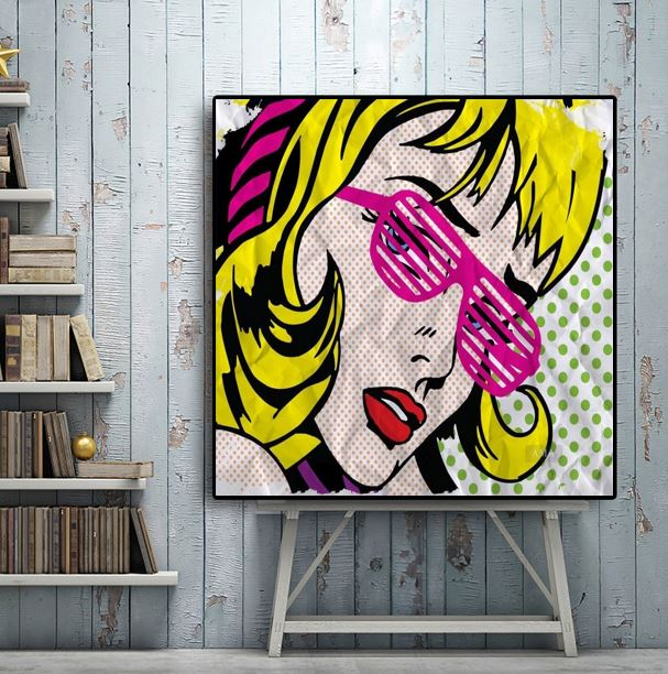 Us 50 6 8 Off Famous Artists Abstract Modern Art Hand Painted Pop Art On Canvas Graffiti Street Art Good For Bedroom Decoration In Painting