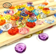 HL 13MM 50PCS/lot  Mix Colors 2 Holes Acrylic Buttons Apparel Sewing Accessories DIY Scrapbooking