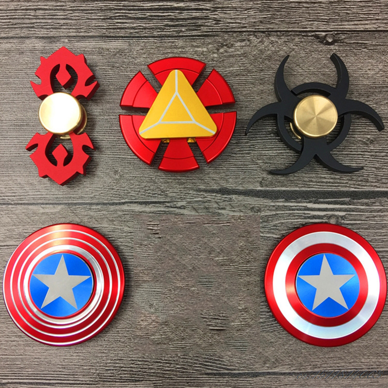 Avengers Captain American Iron Man EDC  Fidget Hand Spinner For s Children Finger Spiner Collection Puzzle Toys As Gift