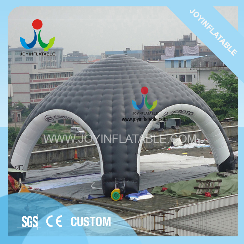 10X10M Gaint Inflatable Domes Car Tent for Camping,Black and White Inflatable Spider Tent with Waterproof 4