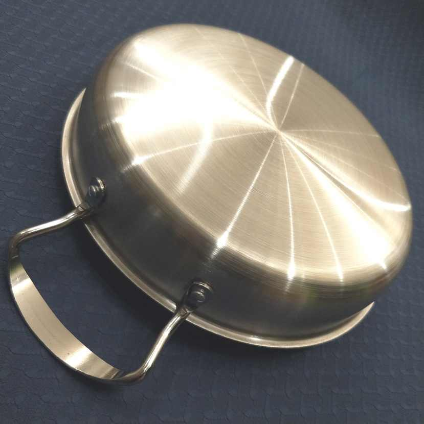 Di dalam diameter 24 cm, Non-coating Stainless Steel Fry Pan Griddles & Grill Pans. (Dia: 24 cm)