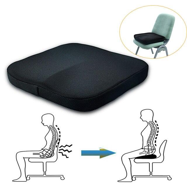 Cojín ortopédico de espuma memoria para silla oficina rebote lento cojín  aliviar el dolor XH8Z DC05