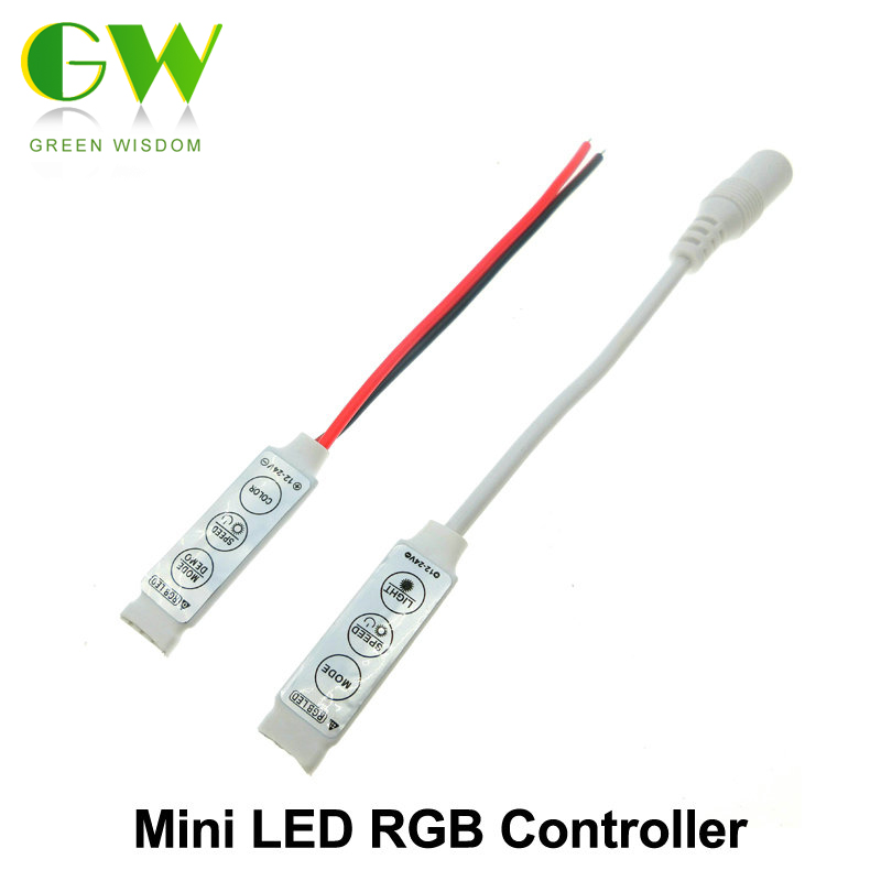 led rgb controler dc12v mini 3 key led rgb controller for. Black Bedroom Furniture Sets. Home Design Ideas