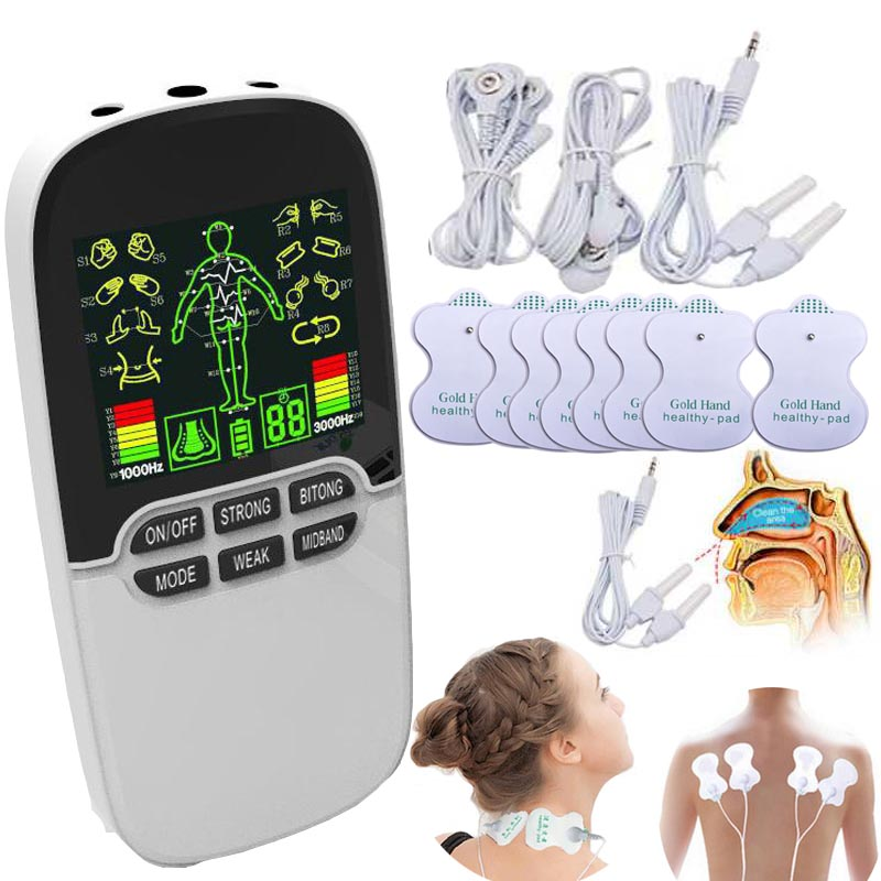 Chargeable Neck Massager Back Massage Muscle Stimulator Nose Rhinitis Sinusitis Cure Therapy Laser Instrument Massager 3-OutputChargeable Neck Massager Back Massage Muscle Stimulator Nose Rhinitis Sinusitis Cure Therapy Laser Instrument Massager 3-Output