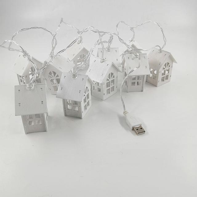 10 piezas de  Casa de Navidad con Led