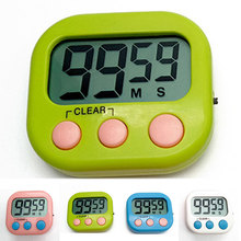 4colors Magnetic LCD Digital Kitchen Countdown Timer Practical Cooking Alarm Clock for egg soup cooking alarm