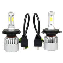 цена на Waterproof H4 LED Headlight Conversion 8000LM 80W COB 6500K White Light Bulbs For Fog Light Headlight