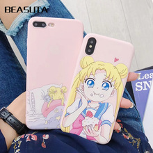Cute Japen Cartoon New Instagram popular anime Sailor Moon Soft case for iphone 6 6S 7 7plus 8 XR lovely cover X MAX