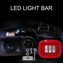 1 pcs 30 w 레드 스퀘어 작업 빛 6000 k 레드 라운드 작업 빛 스포트 스포트 라이트 오프로드 트럭 트랙터 suv 운전 램프 4000lm