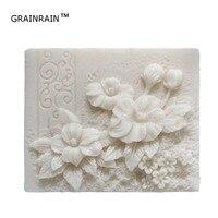 Grainrain мыло формы силиконовые мыло изготовления форм Craft формы смолы плесень прямоугольник цветок