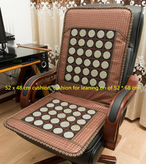 Jade cushion germanium stone cushion office heating boss chair cushion heating cushion for leaning on of ochre heating pad edge 240337 ergonomic chair quality pu wheel household office chair computer chair 3d thick cushion high breathable mesh