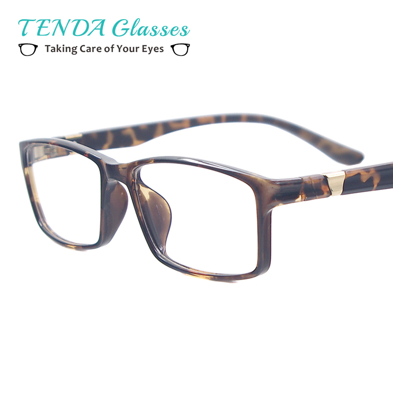 Lightweight Plastic Square Spectacles Men Big Computer Glasses Anti ...